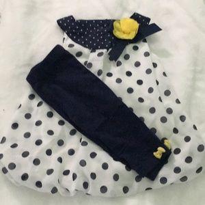 Little Me 2 piece matching dress set size 3T